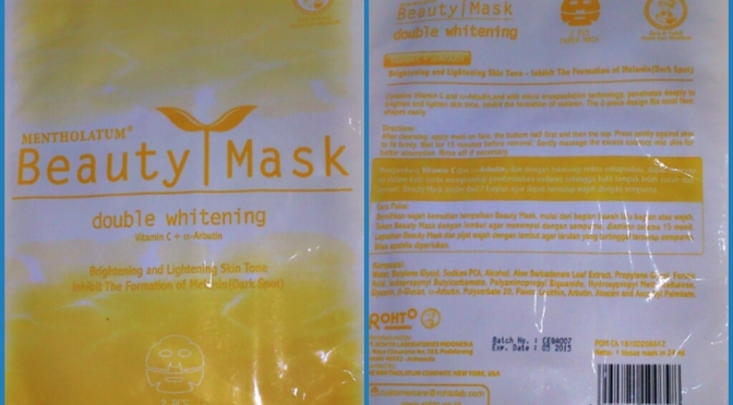 REVIEW: Mentholatum Beauty Mask Double Whitening
