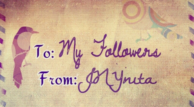BLOGZONE: To My Followers..