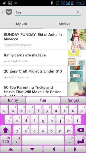 Mencari post yang telah disimpan di pocket sangat mudah :)