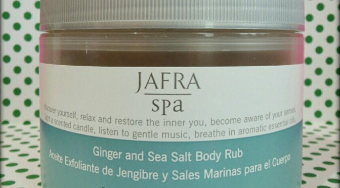 REVIEW: Jafra Spa Ginger and Sea Salt Body Rub