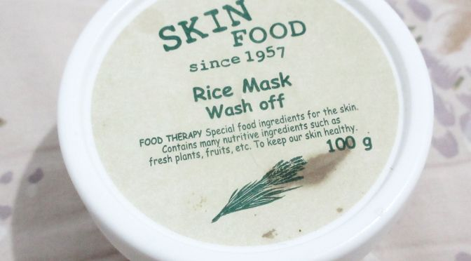 BEAUTY: Skin Food Rice Mask Wash Off