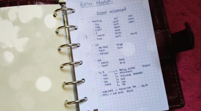 Rutinitas Awal Bulan: Membuat Budget Pengeluaran